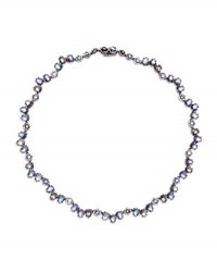Larkspur And Hawk Caterina Garland Riviere Necklace In Hydrangea Foil
