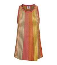 M Missoni Glitter Stripe Flare Tank Top Female Multi
