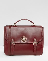Ri2k Leather Satchel Bag Red