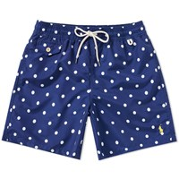 Polo Ralph Lauren Polka Dot Traveller Swim Short Blue