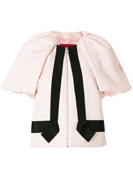 Moncler Gamme Rouge Releve Cropped Jacket Pink And Purple