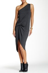 Riller And Fount One Shoulder Pinched Front Mini Dress Gray