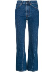 Ports 1961 Cropped Flared Jeans Blue
