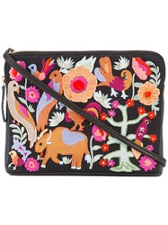 Lizzie Fortunato Jewels Folk Safari Clutch Black