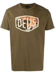 Deus Ex Machina Printed Logo T Shirt Green