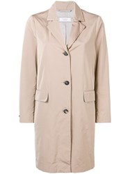 Peserico Single Breasted Coat Nude And Neutrals