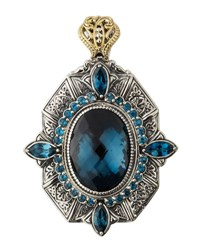 Konstantino Thalassa Oval Enhancer Pendant With London Blue Topaz