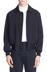 Men's Patrik Ervell Linen And Cotton Bomber Jacket