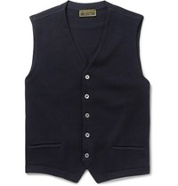 Cordings Virgin Wool Vest Blue