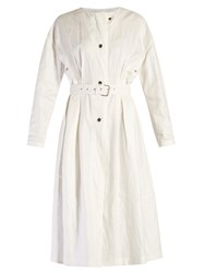 Isabel Marant Ivo Collarless Coat White