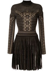 Roberto Cavalli Henna Jacquard Knit Dress Black