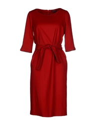 Antonio Fusco Knee Length Dresses Red