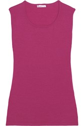 Oscar De La Renta Cashmere And Silk Blend Tank Red