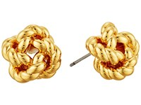Tory Burch Rope Knot Stud Earrings Gold Earring
