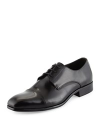 Kenneth Cole Wall 2 Wall Cap Toe Leather Oxford Black