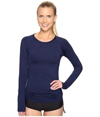 Tyr Solids Swim Shirt Navy Women's Swimwear