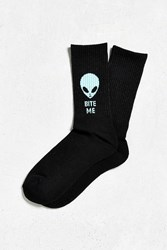 Urban Outfitters Alien Sport Sock Black