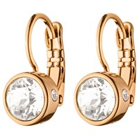 Dyrberg Kern Swarovski Crystals Hook Earrings Rose Gold