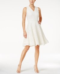 Charter Club Petite Lace Fit And Flare Dress Only At Macy's Vintage Cream