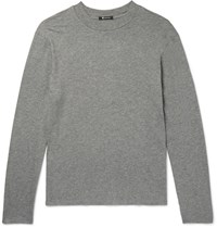Alexander Wang Melange Cotton Jersey T Shirt Gray