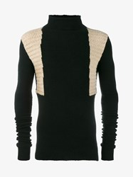 Rick Owens Wool Yak Blend High Collar Sweater Black Beige Grey Denim