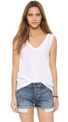 Bb Dakota Sander Cotton Tank Optic White