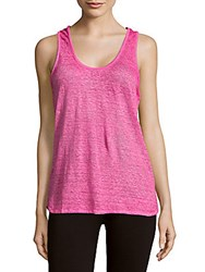 Maje Solid Linen Tank Top Pink