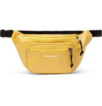 Balenciaga Arena Creased Grain Leather Belt Bag Yellow