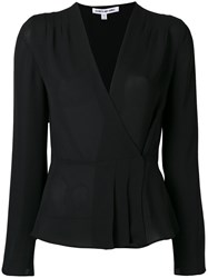 Elizabeth And James 'Layla' Wrap Blouse Black