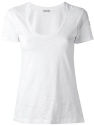 Moncler Scoop Neck T Shirt White