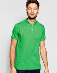 Esprit Slim Fit Short Sleeve Pique Polo Shirt Green