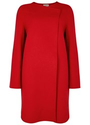 Armani Collezioni Red Wool And Cashmere Blend Coat