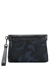 Mulberry Camouflage Print Clutch Blue