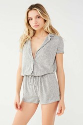 Out From Under Cozy Pj Romper Grey