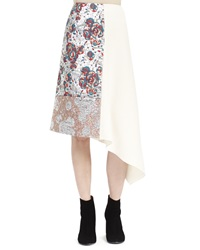 Stella Mccartney Brocade Patch Midi Skirt Winter White