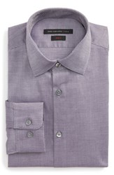 John Varvatos Men's Star Usa Slim Fit Stretch Geometric Dress Shirt Purple