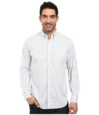 Mountain Khakis Davidson Stretch Oxford Shirt Moonlit Check Men's Clothing White