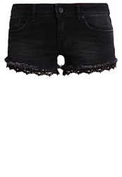 Superdry Denim Shorts Black Black Denim