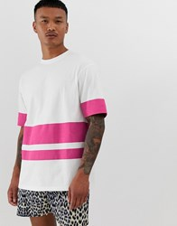 Another Influence Oversized Block Print T Shirt Pink