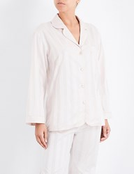 Bodas Striped Cotton Pyjama Shirt Blush Pink