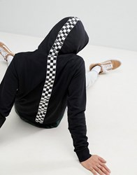Brooklyn Supply Co. Co Hoodie With Checkerboard Taping In Recycled Cotton Black