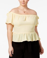Beauty And The Beast Trendy Plus Size Off Shoulder Peplum Top Sunlight