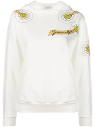 Givenchy Shooting Star Print Hoodie White