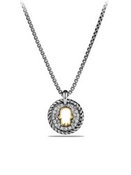 David Yurman Cable Collectibles Hamsa Charm Necklace With Diamonds And 18K Gold Silver Gold