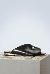 Coliac Lucilla Leather Mules Black