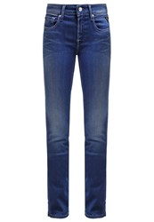 Replay Vicki Straight Leg Jeans Clean Dark Dark Blue