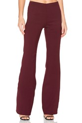 Theory Demitria Flare Pant Burgundy