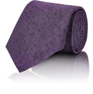 Ralph Lauren Black Label Slub Herringbone Necktie Purple