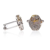 Lc Collection Vintage Classic Watch Movements Cufflinks Life In Style Silver