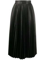 Red Valentino Leather Pleated Mid Length Skirt 60